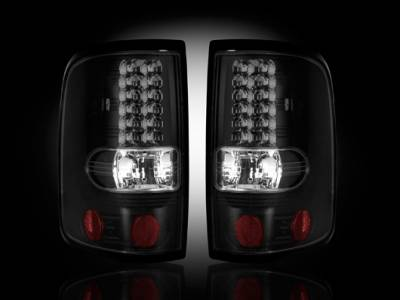 Recon - Ford F150 Recon Straight Side LED Taillights - Smoked Lens - 264178BK