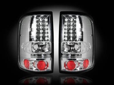 Recon - Ford F150 Recon Straight Side LED Taillights - Clear Lens - 264178CL