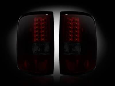 Recon - Ford F150 Recon Straight Side LED Taillights - Dark Red Smoked Lens - 264178RBK