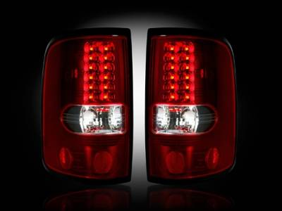 Recon - Ford F150 Recon Straight Side LED Taillights - Red Lens - 264178RD