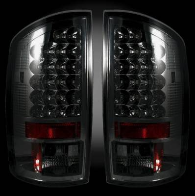 Recon - Dodge Ram Recon LED Taillights - Smoked Lens - 264179BK