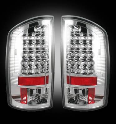 Recon - Dodge Ram Recon LED Taillights - Clear Lens - 264179CL