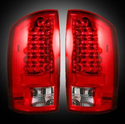 Recon - Dodge Ram Recon LED Taillights - Red Lens - 264179RD