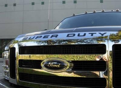Recon - Ford Superduty Recon Raised Logo Emblem Insert - Black - 264181BK