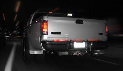 Recon - Recon 15 Inch Mini Tailgate LED Bar with Red Lens - 26418RD