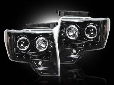 Recon - Ford F150 Recon Projector Headlights - 264190BK