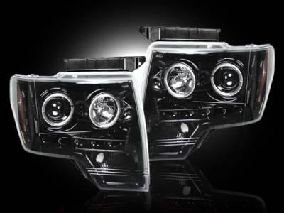Recon - Ford F150 Recon Projector Headlights - 264190BK