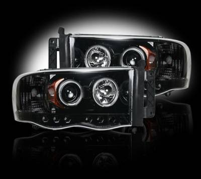 Recon - Dodge Ram Recon Projector Headlights - 264191BK