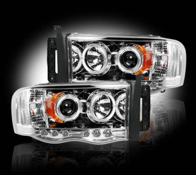 Recon - Dodge Ram Recon Projector Headlights - 264191CL