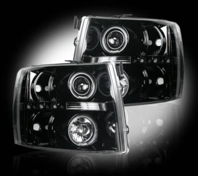 Recon - Chevrolet Silverado Recon Projector Headlights - 264195BK