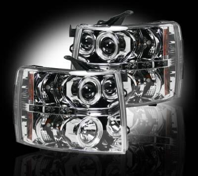 Recon - Chevrolet Silverado Recon Projector Headlights - 264195CL