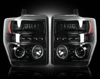 Recon - Ford Superduty Recon Projector Headlights - 264196BK
