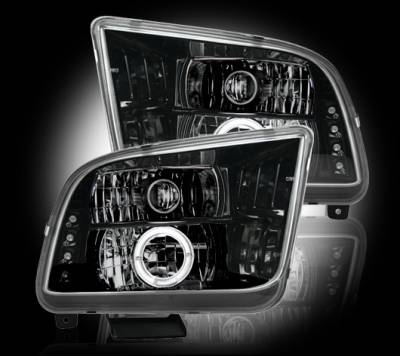 Recon - Ford Mustang Recon Projector Headlights - 264197BK