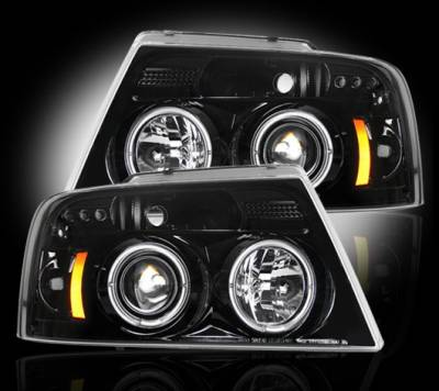 Recon - Ford F150 Recon Projector Headlights - 264198BK