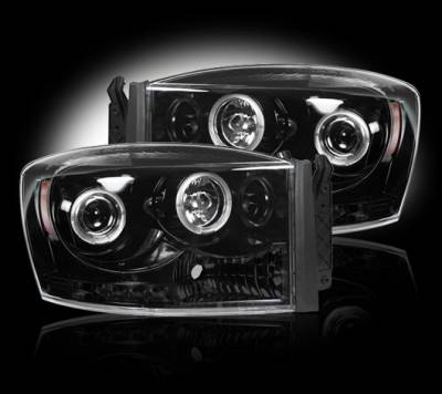 Recon - Dodge Ram Recon Projector Headlights - 264199BK