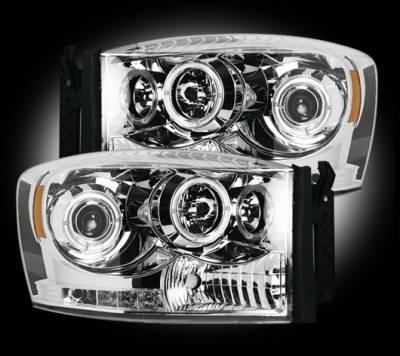 Recon - Dodge Ram Recon Projector Headlights - 264199CL