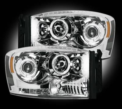 Recon - Dodge Ram Recon Projector Headlights - 264199CL