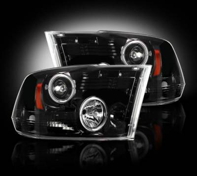 Recon - Dodge Ram Recon Projector Headlights - 264270BK