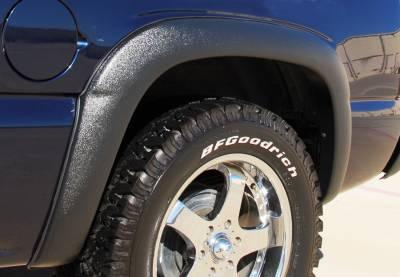 Prestige - Chevrolet Silverado Prestige Rear Pair SX Street Style Textured Fender Flare Set - SX103TB