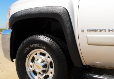 Prestige - Chevrolet Silverado Prestige Front Pair SX Street Style Textured Fender Flare Set - SX106TA