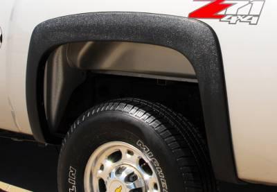 Prestige - Chevrolet Silverado Prestige Rear Pair SX Street Style Textured Fender Flare Set - SX106TB