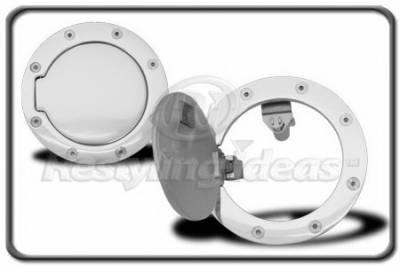 Restyling Ideas - GMC CK Truck Restyling Ideas Fuel Door Kit - Aluminum Billet - 34-GD-101E