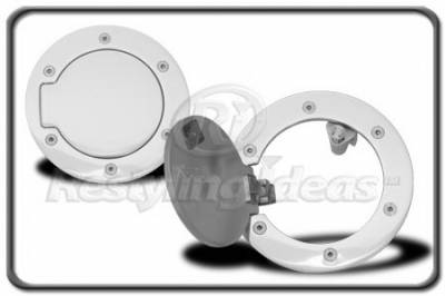 Restyling Ideas - Dodge Ram Restyling Ideas Fuel Door Kit - Aluminum Billet - 34-GD-301E