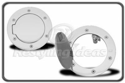 Restyling Ideas - Dodge Ram Restyling Ideas Fuel Door Kit - Aluminum Billet - 34-GD-302E