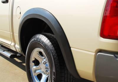 Prestige - Dodge Ram Prestige Rear Pair SX Street Style Textured Fender Flare Set - SX204TB
