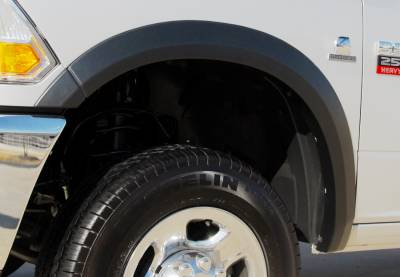 Prestige - Dodge Ram Prestige Front Pair SX Street Style Textured Fender Flare Set - SX205TA