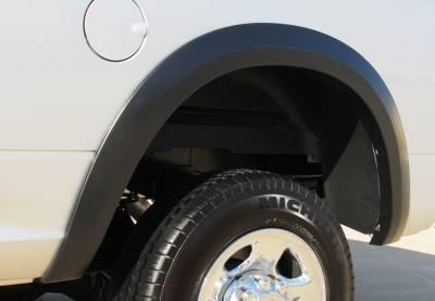 Prestige - Dodge Ram Prestige Rear Pair SX Street Style Textured Fender Flare Set - SX205TB