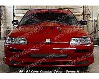 FX Designs - Honda Civic FX Design S2 Combat Style Full Body Kit - FX-313AK