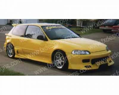 FX Designs - Honda Civic FX Design Combat Style Full Body Kit - FX-90K