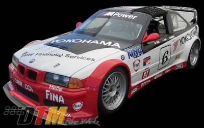 DTM Fiberwerkz - BMW 3 Series DTM Fiberwerkz GTR Race Style Widebody Kit - E36 GTR Race
