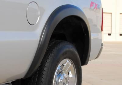 Prestige - Ford F250 Prestige Rear Pair SX Street Style Textured Fender Flare Set - SX313TB