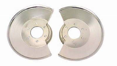 Omix - Rugged Ridge Brake Dust Shield with 2 Bolt Caliper Plate - Pair - Stainless Steel - 11121-02