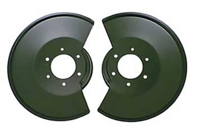 Omix - Omix Brake Rotor Splash Shield with 2 Bolt Caliper Plates - Black Powder - 11212-02