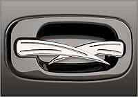 Grippin Billet - Grippin Billet Side Door Handle Double Edge Style - Brushed Chrome - Pair - 31012