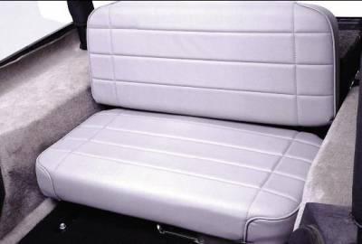 Rampage - Jeep CJ Rampage Standard Rear Seat - Grey Denim - 508011N