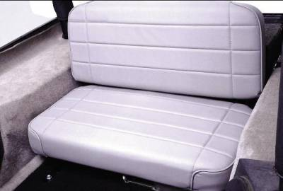 Rampage - Jeep CJ Rampage Standard Rear Seat - Black Denim - 508015N