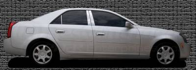 Restyling Ideas - Cadillac CTS Restyling Ideas Pillar Post - Stainless Steel Mirror Look - 6PC - 52-SS-CACTS03