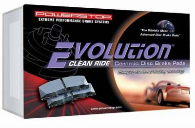 PowerStop - Power Stop Friction Z16 Ceramic Brake Pads - Rear - 16-666