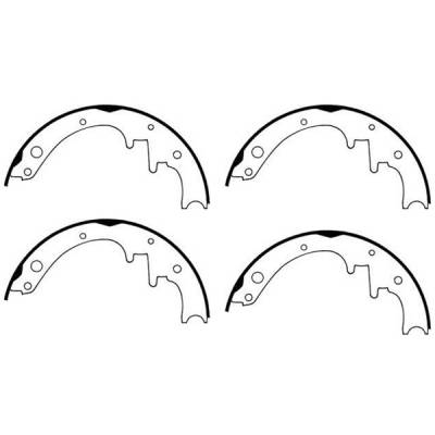 Omix - Omix Brake Shoe Set - 10 inch - 16726-16
