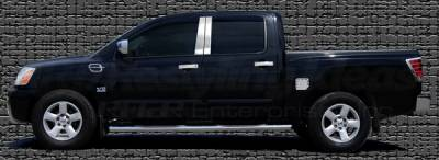 Restyling Ideas - Nissan Titan Restyling Ideas Pillar Post - Stainless Steel Mirror Look - 4PC - 52-SS-NITIT04