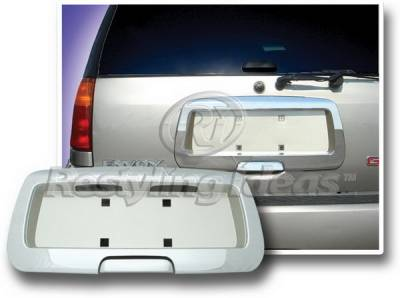 Restyling Ideas - GMC Envoy Restyling Ideas License Plate Holder Cover - Chrome & Gold - 65223G