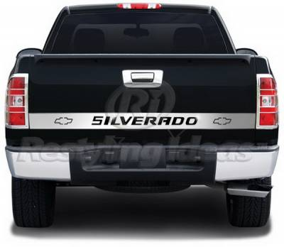 Restyling Ideas - Chevrolet Silverado Restyling Ideas Signature-X Tailgate Accents - Stainless Steel - 65-SS-CHSIL99-AR
