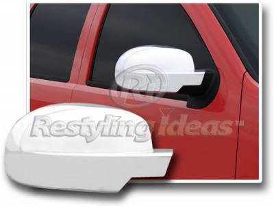 Restyling Ideas - GMC Yukon Restyling Ideas Mirror Cover - Full - Chrome ABS - 67314F