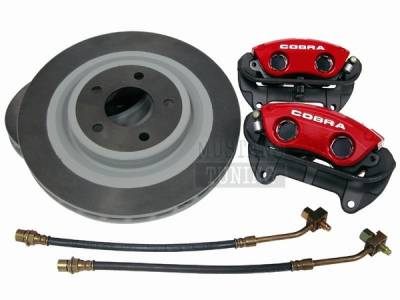 Ford Racing - Ford Mustang Ford Racing Red 10th Anniversary Cobra Brake Upgrade Kit - Front Only - 50046
