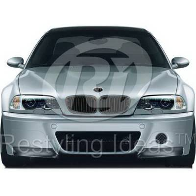 Restyling Ideas - BMW 3 Series 2DR Restyling Ideas Performance Grille - 72-GB-3SE46022-BB