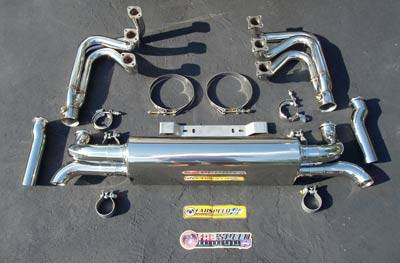 FabSpeed - MAXFLO Header Muffler Kit With Heat